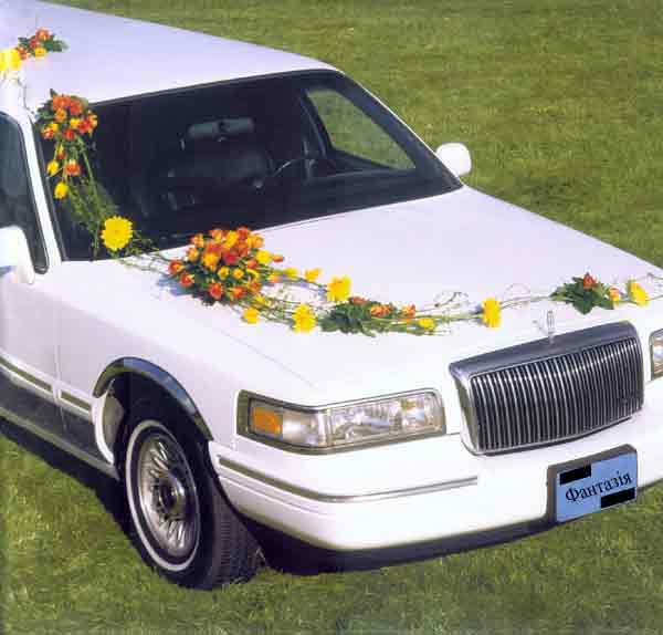 Оформлення машин для весілля